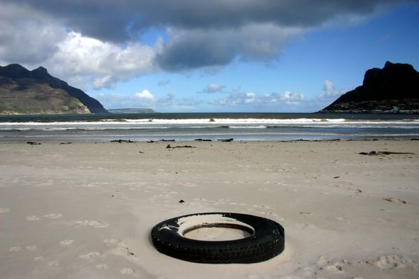 beached tire
