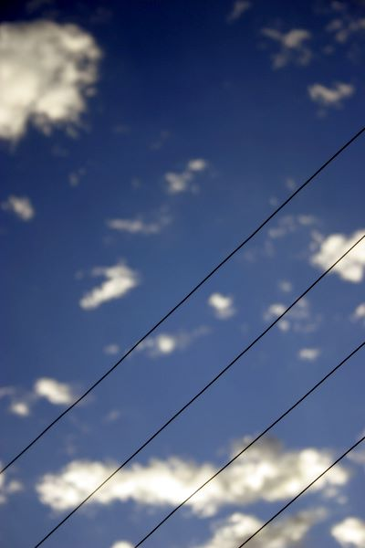 sky and electric fence