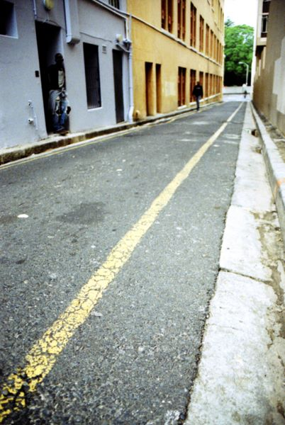 dodgy side street, off long